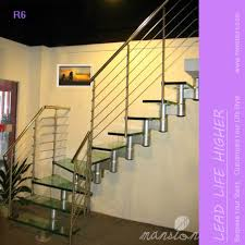 led lights on mono single stringer tempered glass stairs buy