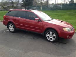red subaru 2005 subaru outback xt complete part out 5 speed 171k the subie