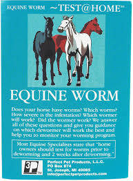 Equine Home Decor by Equine Home Worm Test Kit Perfect Pet Health Care Diagnostics