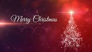 merry christmas tree animated background loop christmas card