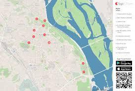 Kiev Map Kyiv Printable Tourist Map Sygic Travel