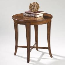 round oak end table walnut finish 17 diam x 25 h in round oak end table