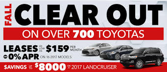 toyotas new car current new toyota specials offers wilde toyota