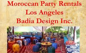 party rentals los angeles moroccan party rentals los angeles by badia design inc in