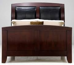 Black Leather Sleigh Bed Casana Rodea Sleigh Bed With Leather Upholstered Headboard Fmg