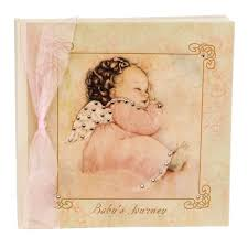 terra traditions photo album terra traditions baby s journey record book angel baby pink