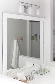 framed bathroom mirrors diy how to frame a bathroom mirror easy diy project