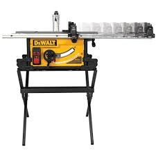 dewalt 15 amp 10 in job site table saw with scissor stand