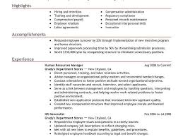 Human Resources Job Description Resume Human Resources Resume Examples Efficiencyexperts Us