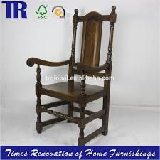 Oak Dining Furniture Solid Oak Dining Chair Antique Carved Oak Chair Wood Curved Back
