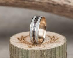 Stag Head Designs Men U0027s Wedding Band Elk Antler U0026 Camo Ring Staghead