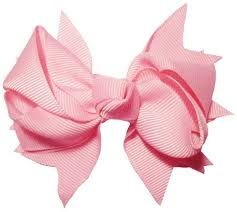 pink hair bow pink squared knot hair bow 3 1 2