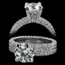 michael b engagement rings michael b jewelry 3 row flatband