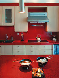 Red Backsplash Kitchen Red Glass Backsplash Kitchen