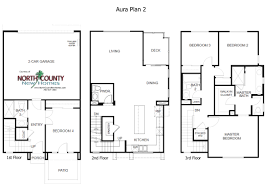 Townhome Floorplans Aura Floor Plans New Homes In Mira Mesa North County New Homes