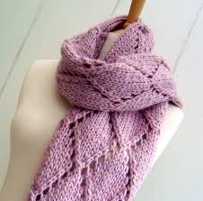 Trellis Scarf Knitting Pattern Scarf Wrap Easy Knit Diamond Lattice Scarf