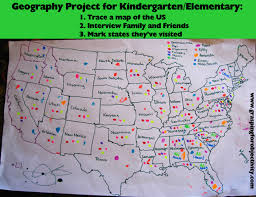 A Map Of The States by Geography Project For Kids Have Them Trace A Map Then Interview