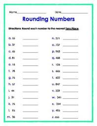 rounding and estimation worksheets to the nearest 10