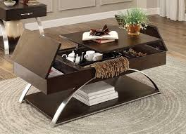homelegance tioga cocktail table with lift top and storage