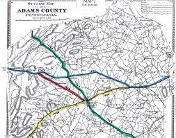 Pennsylvania Road Map by Adams County Civil War Taverns Part 1 Gettysburg Lbg John