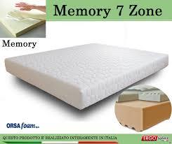 materasso 90x190 materasso memory mod 7 zone singolo 80x190 zone differenziate