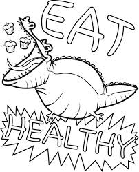 printable coloring page of an alligator eating cupcakes health