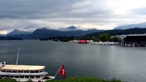 lucerne switzerland hotel schweizerhof view pretty lake youtube