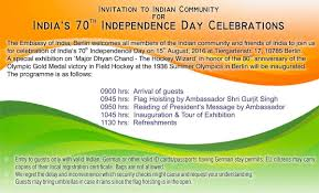 Olympic Invitation Cards Invitation For 70th Independence Day Celebrations Embassy Of