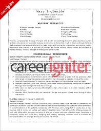 therapist resume sle career igniter