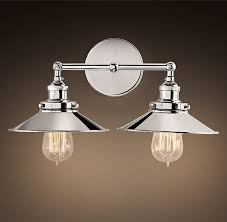 Vanity Sconce Lighting Fixtures Guest Bathroom Over Mirror Light Fixture Restoration Hardware