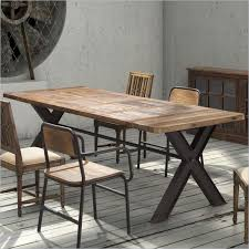 Dining Room Tables San Antonio Contemporary Trestle Legs Dining Table With Intricate Top San