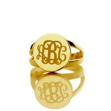 Monogram Rings Gold Name Rings Gold Lookup Beforebuying