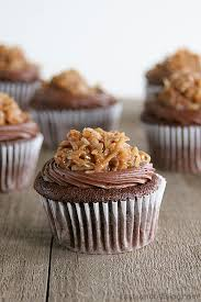 german chocolate cupcakes with raspberry filling taste and tell