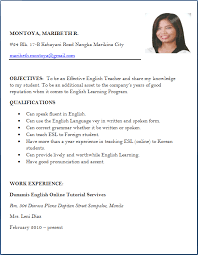 Teacher Job Resume by Sample Resume For Fresher Teacher Job Templates