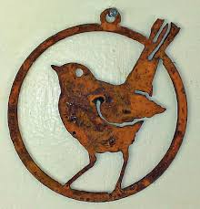 bird silhouette robin ornament decorative