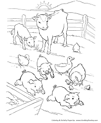 barn yard pigs coloring pages printable farm animal coloring