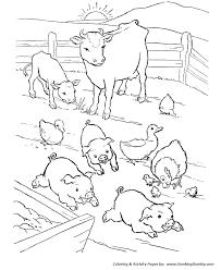 farm animals coloring page barn yard pigs coloring pages printable farm animal coloring