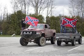 Truck With Rebel Flag Heritage Or U2013 Cedar Post