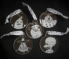 nightmare before christmas decorations set of 5 ornaments