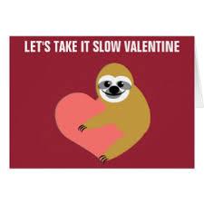 sloth valentines day card sloth valentines day gifts sloth valentines day gift ideas on