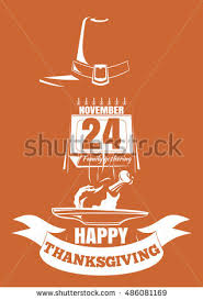 thanksgiving design roast turkey date stock vector