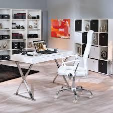 bureau chrome bureau xavier chrome blanc