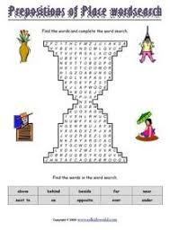 english worksheet prepositions in on at place and time