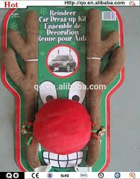reindeer antlers for car high quality christmas car decoration reindeer antlers and nose