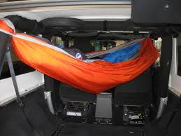 larry minor sand jeep when the weather turns bad there u0027s room to set up my hammock