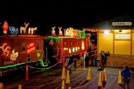 sunol train of lights niles canyon railway train of lights is best north pole train ride