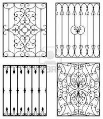 decorative wrought iron window grills design for sliding windows