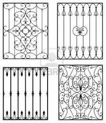 decorative wrought iron window grills design for sliding windows