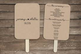 wedding program fan kits wedding program fan template rustic wedding program fan