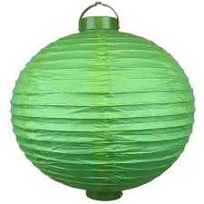 battery operated paper lantern lights 15inch battery operated light 12 led paper lantern green